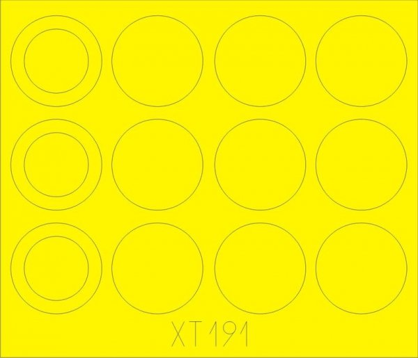 Eduard XT191 Merkava IIID wheel masks 1/35 HOBBY BOSS