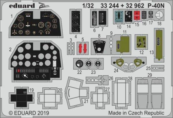 Eduard 32962 P-40N interior 1/32 TRUMPETER