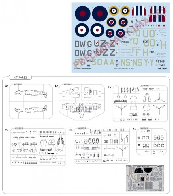 Eduard 82154 Spitfire Mk.IIb Profipack edition 1/48