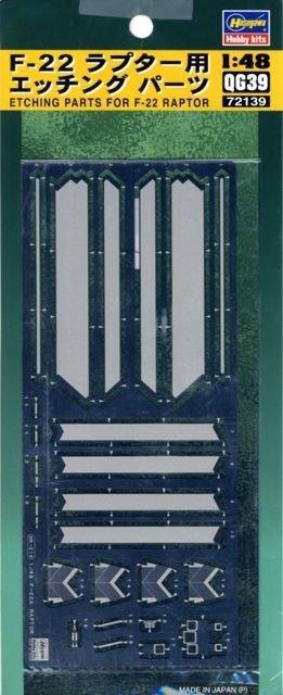 Hasegawa QG39 (72139) Etching Parts for F-22 Raptor 1/350