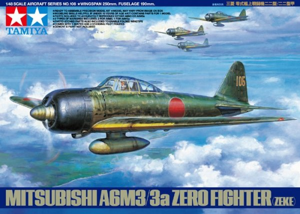 Tamiya 61108 Mitsubishi A6M3/3a Zero Fighter (1:48)
