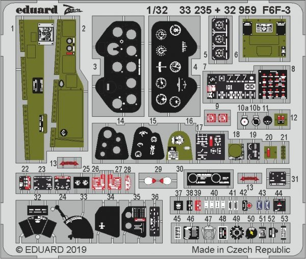 Eduard 32959 F6F-3 1/32 TRUMPETER