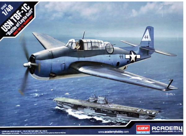 """Academy 12340  TBF-1C """"Battle of Leyte Gulf"""" 1/48"""