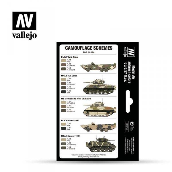 Vallejo 71624 WWII USMC Colors Sand Patterns 1942-1945 6x17ml