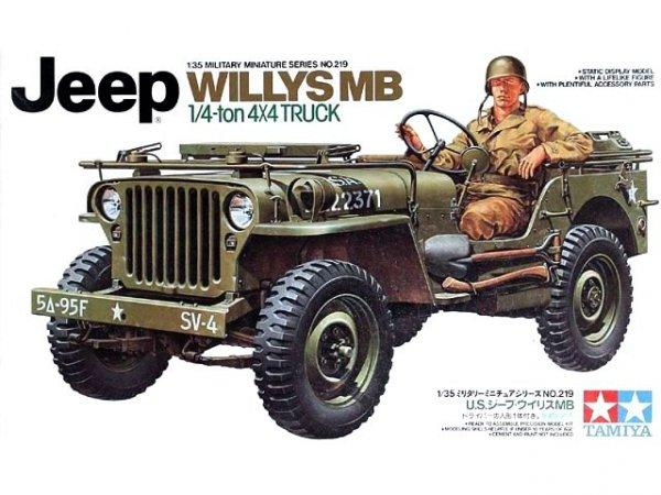 Tamiya 35219 US Jeep Willys MB 1/4 Ton Truck (1:35)