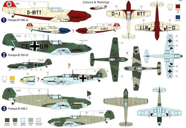 AZ Model AZ7690 Bf 109E-2/3/V-20 1/72
