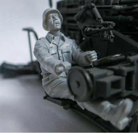 Das Werk DWF005 Gunner (Richtschütze) 2cm SMK18 1/35