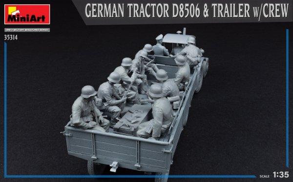 MiniArt 35314 GERMAN TRACTOR D8506 & TRAILER w/CREW 1/35