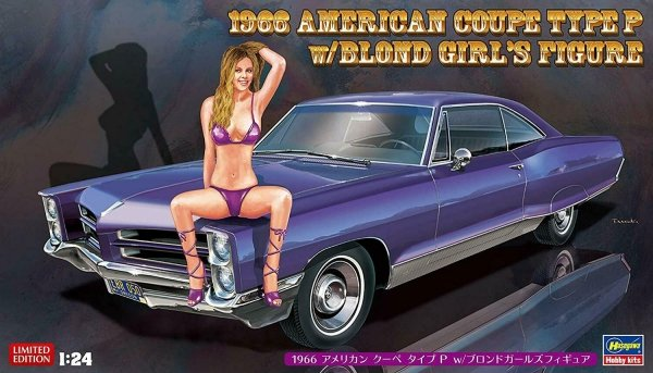 Hasegawa SP424 (52224) 1966 American Coupe Type P w/Blond Girl's Figure 1/24