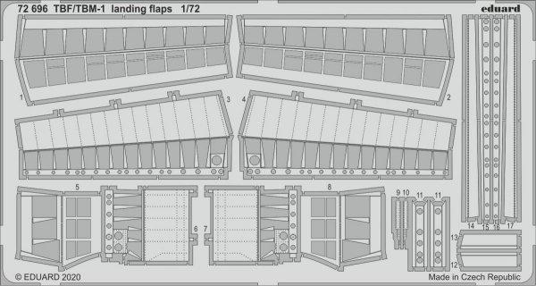 Eduard 72696 TBF/ TBM-1 Avenger landing flaps 1/72 HASEGAWA