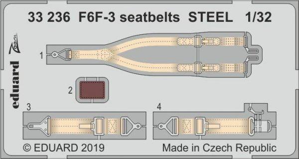Eduard 33236 F6F-3 seatbelts STEEL 1/32 TRUMPETER
