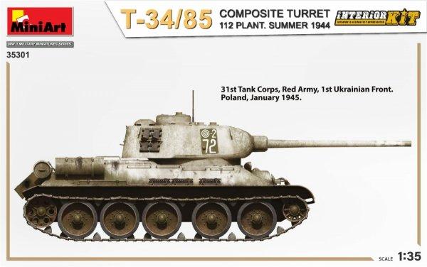 MiniArt 35301 T-34/85 COMPOSITE TURRET. 112 PLANT. SUMMER 1944 INTERIOR KIT 1/35