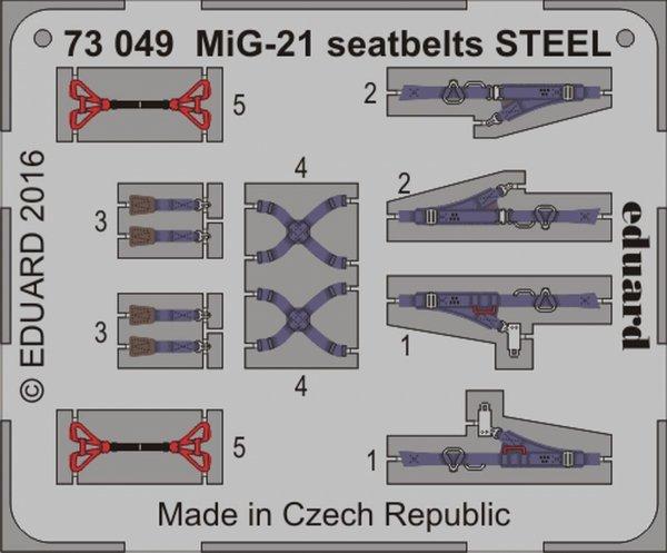 Eduard 73049 MiG-21 seatbelts STEEL 1/72