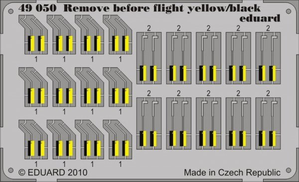 Eduard 49050 Remove Before Flight - yellow/ black 1/48