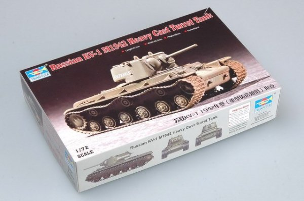 Trumpeter 07231 Russia KV-1 1942 Heavy Cast Turret Tank (1:72)
