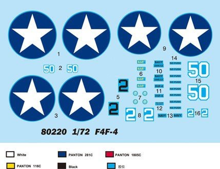 Hobby Boss 80220 F4F-4 Wildcat (1:72)