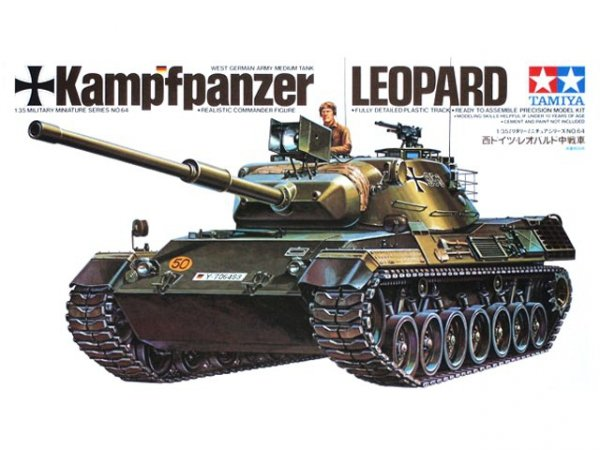 Tamiya 35064 West German Leopard Medium Tank (1:35)