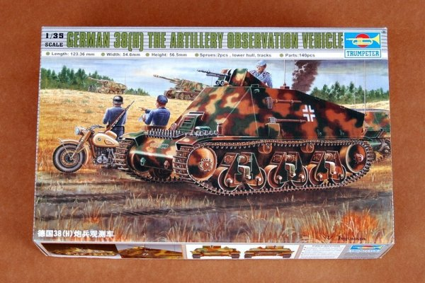 Trumpeter 00355 German 38(H) the artillery observation vehicle (1:35)