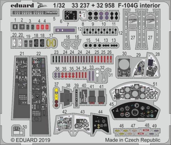 Eduard 33237 F-104G interior 1/32 ITALERI