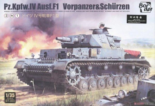 Border Model BT-003 Pz.Kpfw.IV Ausf.F1 1/35