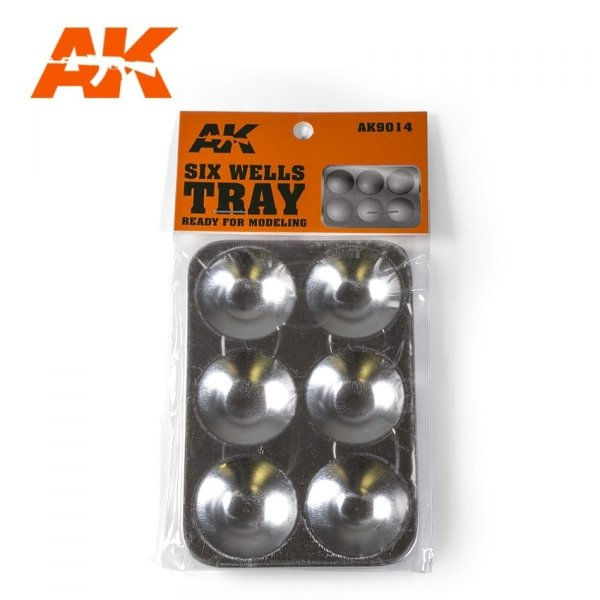 AK Interactive AK 9014 Six Wells Tray