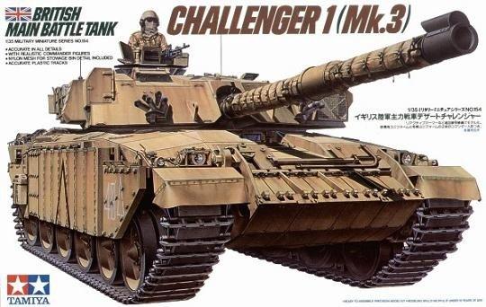 Tamiya 35154 Br.Challenger 1 Mk.3 (1:35)