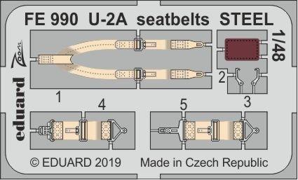 Eduard FE990 U-2A seatbelts STEEL 1/48 AFV CLUB