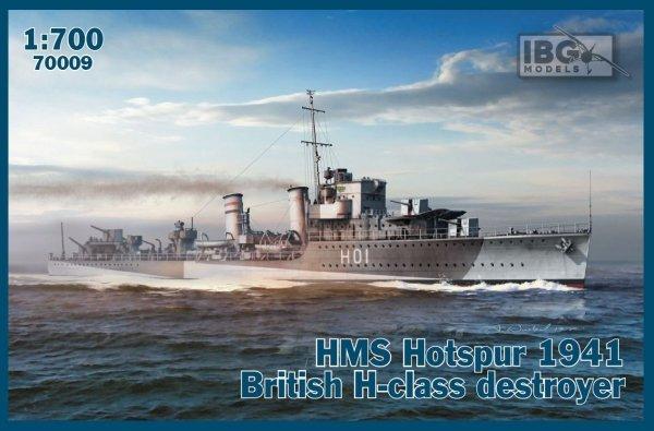 IBG 70009 HMS Hotspur 1941 British H-class 1/700