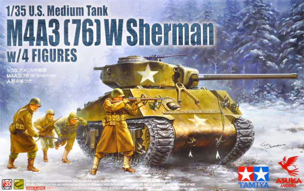 Asuka 35-048 M4A3 (76) W Sherman w/Figure (Tamiya) 1/35