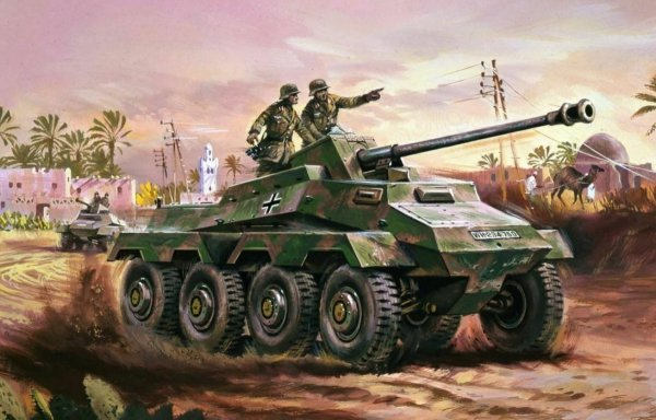 Airfix 01311V German Sd.Kfz.234 Armoured Car 1/76
