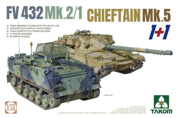 Takom 5008 FV432 Mk.2/1 + Chieftain Mk. 5 1/72