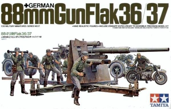 Tamiya 35017 German 88mm Gun Flak36/37 (1:35)