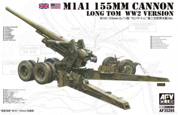 "AFV Club AF35295 M1A1 155mm Cannon ""Long Tom"" WWII version 1/35"