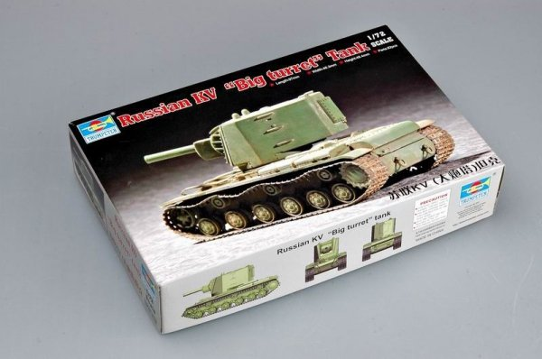 "Trumpeter 07236 Soviet KV ""Big turret"" tank (1:72)"
