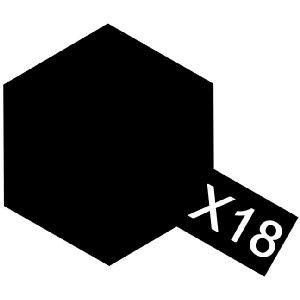 Tamiya X18 Semi Gloss Black (81518) Acrylic paint 10ml
