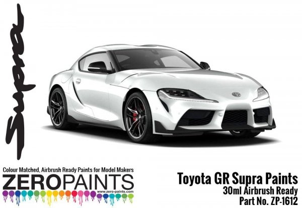 Zero Paints ZP-1612-SM Toyota GR Supra Silver Metallic Paint 30ml