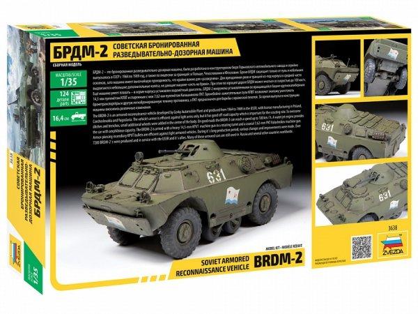 Zvezda 3638 Soviet Armored Reconnaissance Vehicle BDRM-2 1/35
