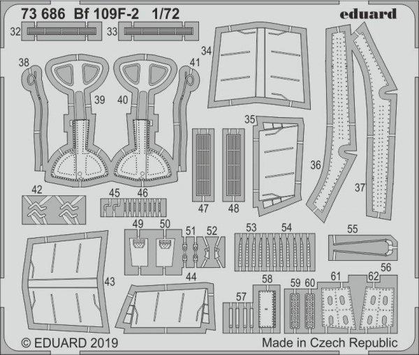 Eduard 73686 Bf 109F-2 1/72 REVELL