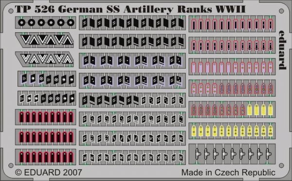 Eduard TP526 German SS Artilery Ranks WWII 1/35