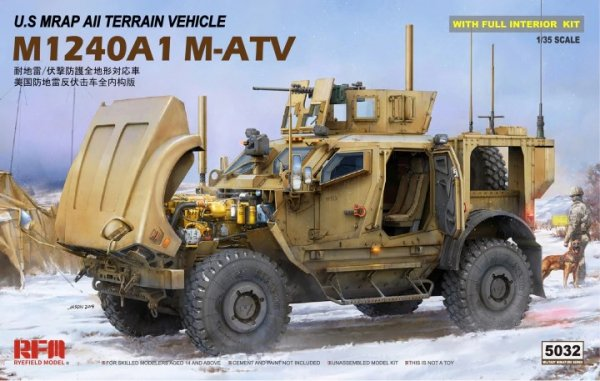 Rye Field Model 5032 U.S MRAP All Terrain Vehicle M1240A1 M-ATV With full interior 1/35