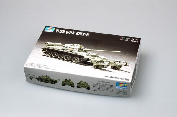 Trumpeter 07283 T-55 with KMT-5 (1:72)