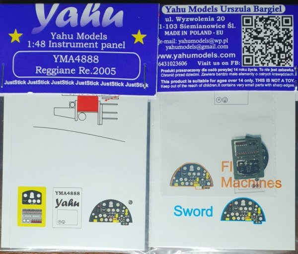 Yahu YMA4888 Reggiane Re.2005 (Sword) 1/48