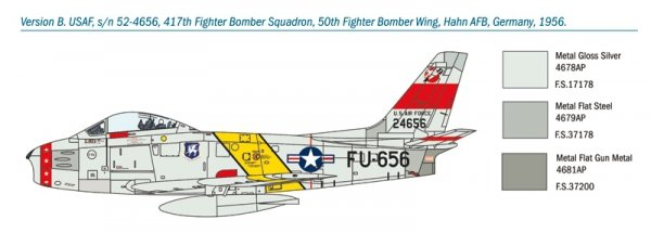 Italeri 1426 F-86F Sabre 1/72