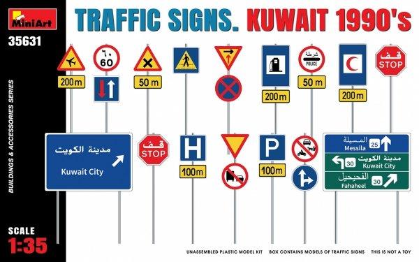 Miniart 35631 TRAFFIC SIGNS. KUWAIT 1990's 1/35