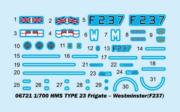 Trumpeter 06721 HMS TYPE 23 Frigate - Westminster (F237) 1/700