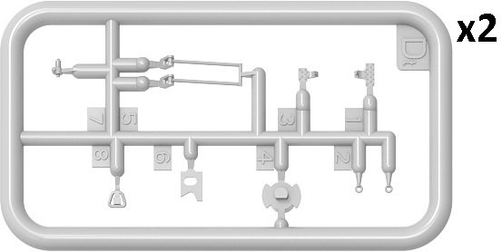 MiniArt 37073 TRANSMISSION SET FOR T-55/T-55A  1/35