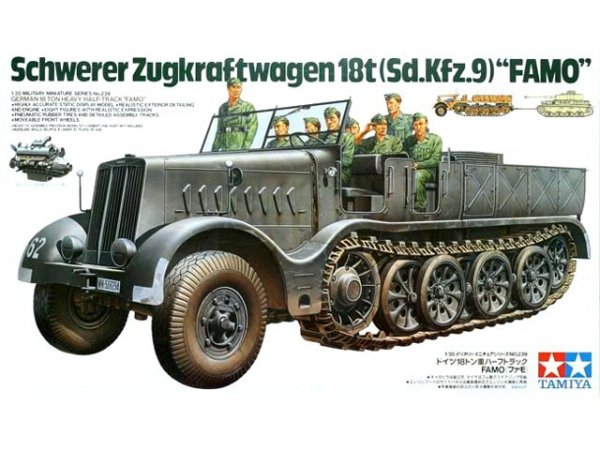 Tamiya 35239 German 18-Ton Heavy Half-Track FAMO (1:35)