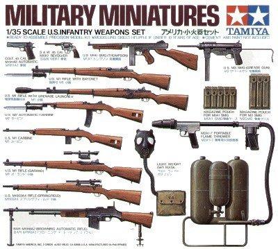 Tamiya 35121 U.S. Infantry Weapons Set (1:35)