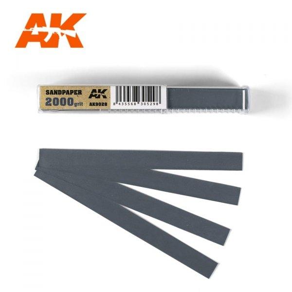 AK Interactive AK 9028 SANDPAPER GRAIN 2000 (WET)