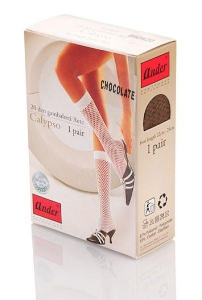 podkolanówki CALYPSO - chocolate